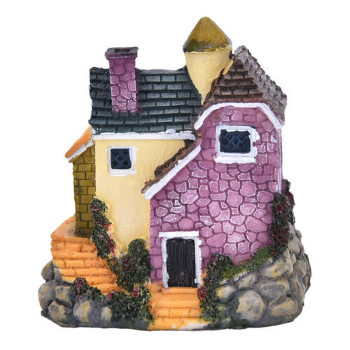 Garden Ornament Miniature House Flower*Figurine Craft Plant Pot Fairy Decor HotM