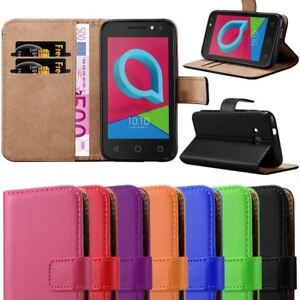 size 40 cede2 49816 Details about For Alcatel U3 3G Case, Leather Wallet Flip Book Stand View  Card Holder Cover
