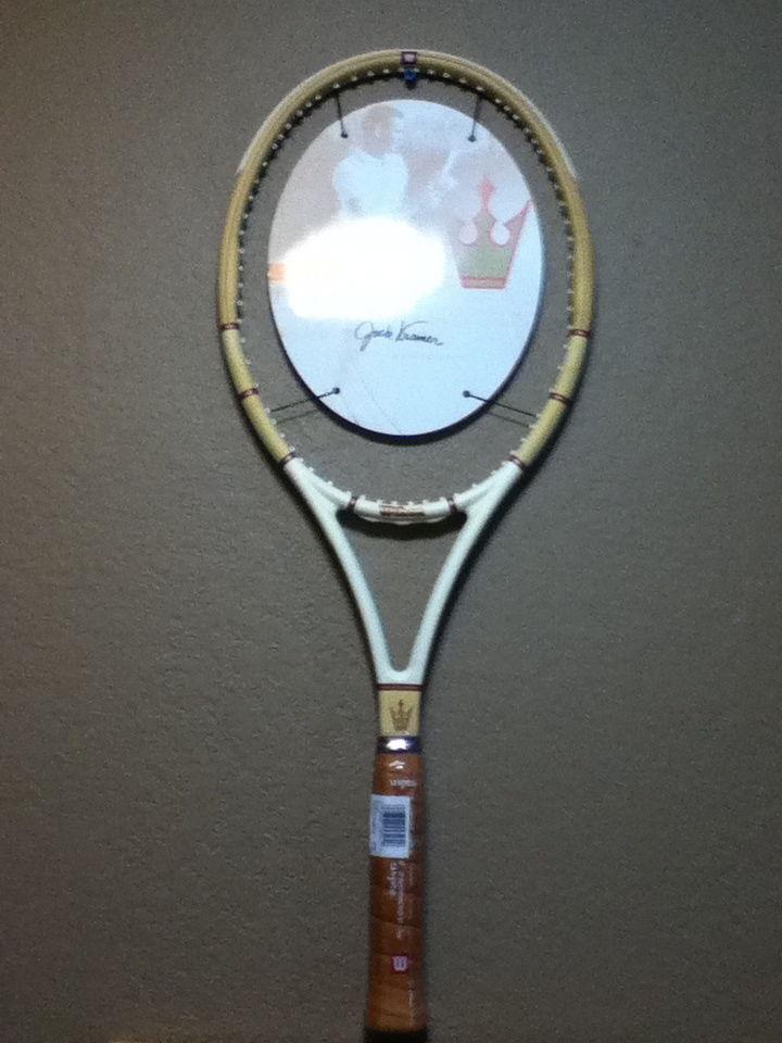 Firmado Wilson Jack Kramer autógrafo Millennium Edition Raqueta De Tenis 4-1 2  Rara