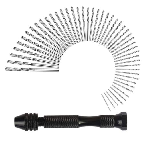 Hand Drill Set Precision Pin Vise With 49 Pcs Mini Twist Drill Bits For Mod O6M1