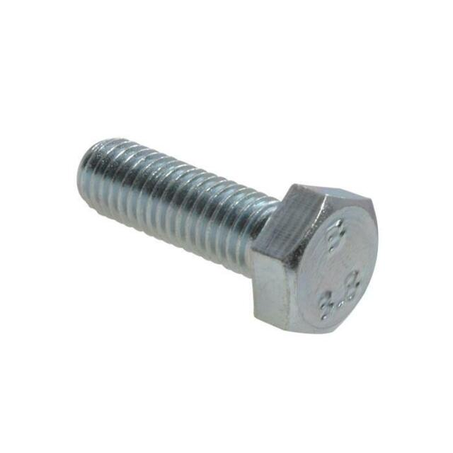 M20 (20mm) x 2.50 pitch Metric Coarse HEX SET SCREW Bolt High Tensile 8.8 Zinc