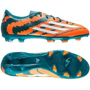adidas F 10.3 TRX FG MESSI 2015 Soccer Shoes Orange / Teal Green / White New