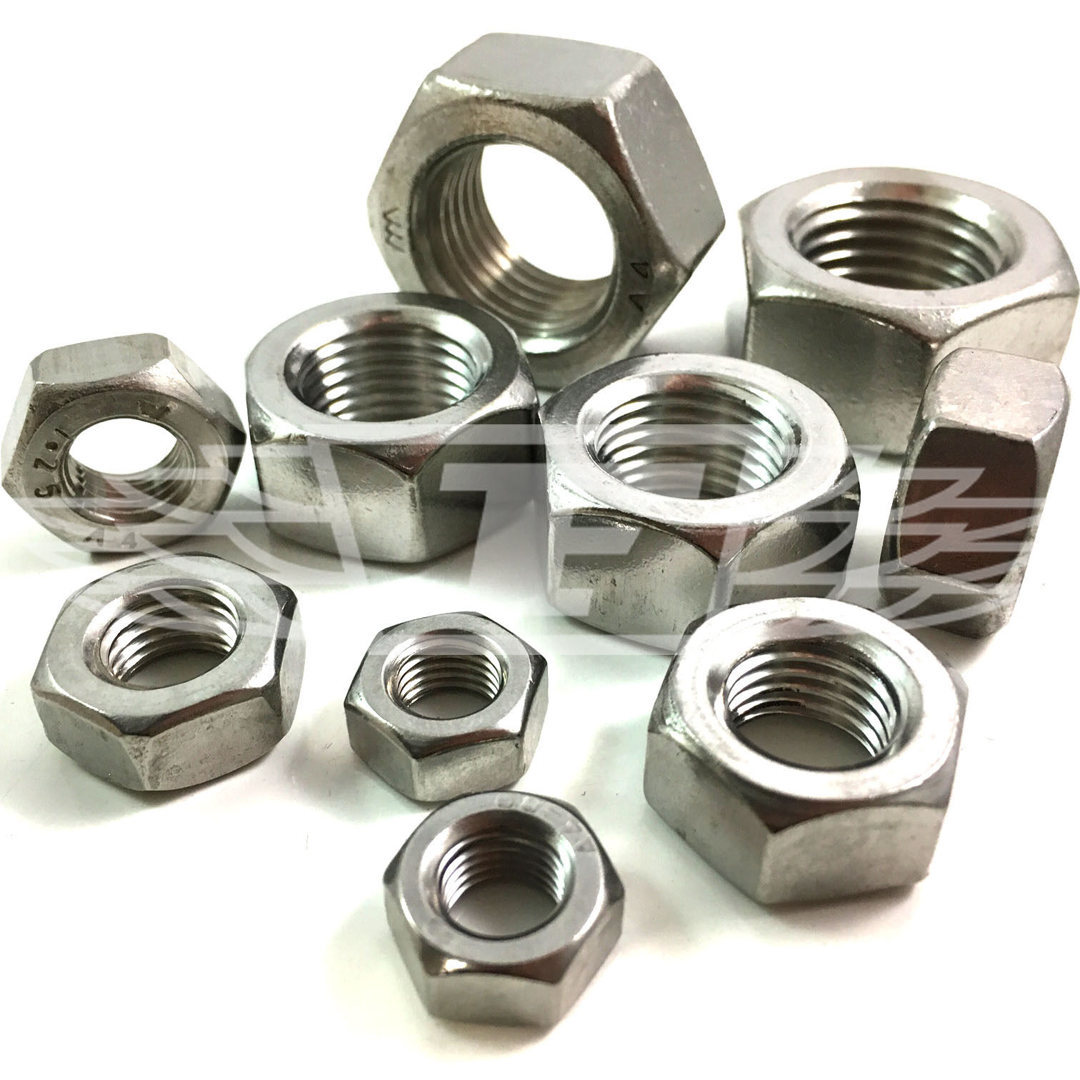 M8 M10 M12 M14 M16 M18 M20 A4 STAINLESS FINE PITCH METRIC THREAD HEX FULL NUTS