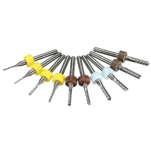 10 Stück 3.175mm Pcb Carbid Werkzeug Schaftfräser CNC Schneidend Spitze Fräser