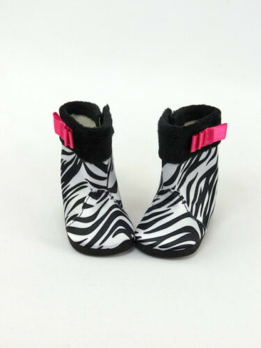"""Zebra Print Boots Fits 18/"""" American Girl Doll Clothes Shoes"""