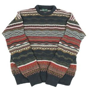 Details about Vintage ANSETT Wool Cosby Jumper | Sweater Knit 90s Hip Hop Patterned 3D