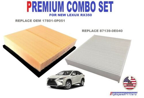 PREMIUM COMBO AIR FILTER /& CABIN FILTER FOR 2016 2017 2018 2019 LEXUS RX350
