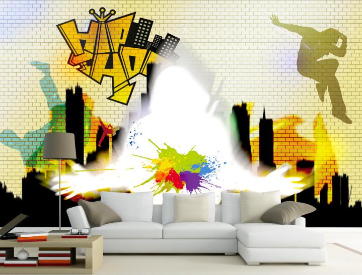 Papel Pintado Mural De Vellón Hip Hop Ciudad 3 Paisaje Fondo De Pantalla ES AJ