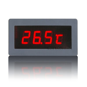 led thermometer 2 f hler sensoren 20 125 c einbauthermometer 12v digital ebay. Black Bedroom Furniture Sets. Home Design Ideas