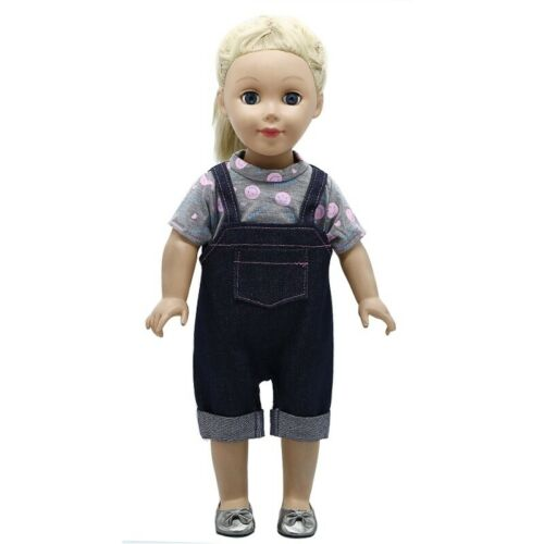 American Doll Clothes Black Suit Dress Fit 43cm Baby Dolls 18 Inch Dolls Toy