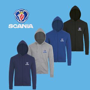 b0ad757262 Caricamento dell'immagine in corso Scania-Felpa-Cappuccio-Cerniera-Ricamato -Hoodie-Hoody-Sweatshirt-