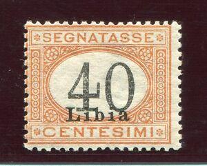1930-libia-Segnatasse-40-cent-arancio-e-nero-nuovo-gomma-integra-cert