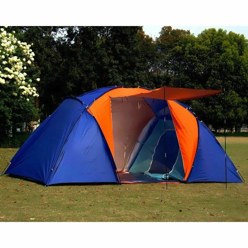 Quality 5-8 Person Large Tent Waterproof Double Layer Summer Tent Outdoor