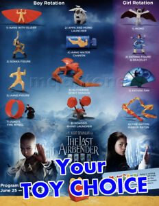 Details About Mcdonald S 2010 The Last Airbender Fantasy Movie Fire Nation Your Toy Choice