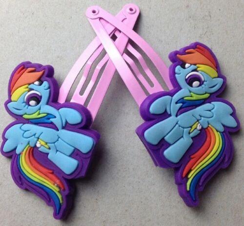 Apple Pinkie Twilight Mon petit poney Lot de 8 pinces à cheveux-Arc-en-ciel CADEAU GRATUIT