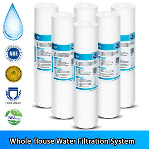 """5 Micron 10"""" x 2.5"""" Whole House Sediment Home Water Filter Cartridge Replacement"""