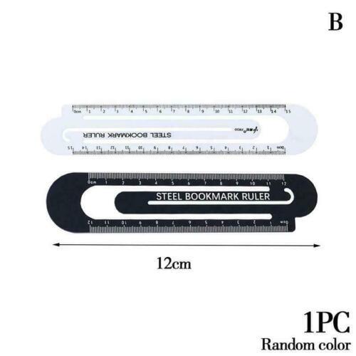 High Quality Steel Ruler Metal Ruler Metal Bookmarks School Supplies Drawin Z9E2