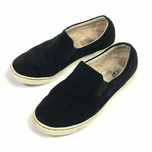 c99874ac362 UGG Australia Womens Fierce Black Suede Slip On Sneakers 1006737 ...