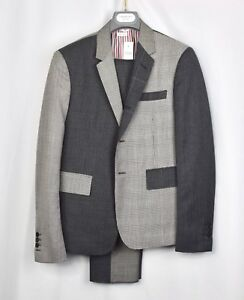 Details about $3800 NWT New Thom Browne High Armhole Funmix Grey Suit  Jacket Size 2 Wool