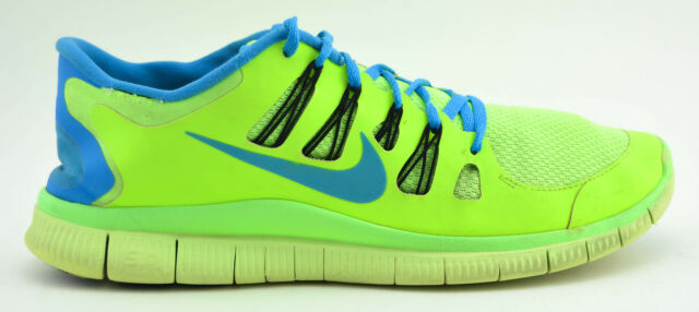 meet 73f35 fccb4 MENS NIKE FREE 5.0 RUNNING SHOES FLASH LIME GREEN BLUE 579959 340 2013 SIZE  11