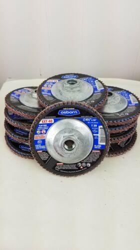 """Box of 10 Type 29 Osborn Flap Disc 4-1//2/"""" x 5//8-11/"""" EXT 40 Grit"""
