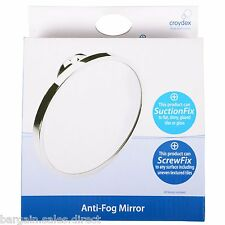 CROYDEX TWIST 'N' LOCK SUCTION ANTI FOG BATHROOM SHAVING MIRROR