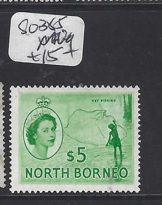 pp2811b Qeii $5.00 Sg 385 Mog Fast Color North Borneo