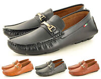 New Mens leather LOOK Casual Loafers Moccasins Slip on Shoes Avail UK Sizes 6-11