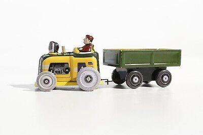 Blechspielzeug Kleiner Traktor Mit AnhÄnger °° Tin Toy °° Jouet En Tôle °° Baufahrzeuge & Traktoren Gewidmet