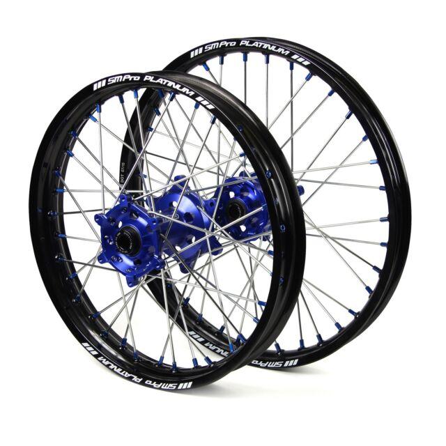 "Yamaha YZ85 2008 2009 2010 2011 2012 2013 Wheels Set Blue Black 14"" 17"" Rims"
