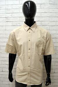 Camicia-WRANGLER-Uomo-Taglia-XXL-Maglia-Chemise-Shirt-Man-Cotone-Beige-Regular