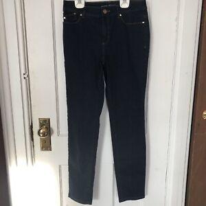 Chicos-00-Platinum-Jeggings-Jean-Leggings-Size-2-Small-Jeans-Legging-Dark-Wash
