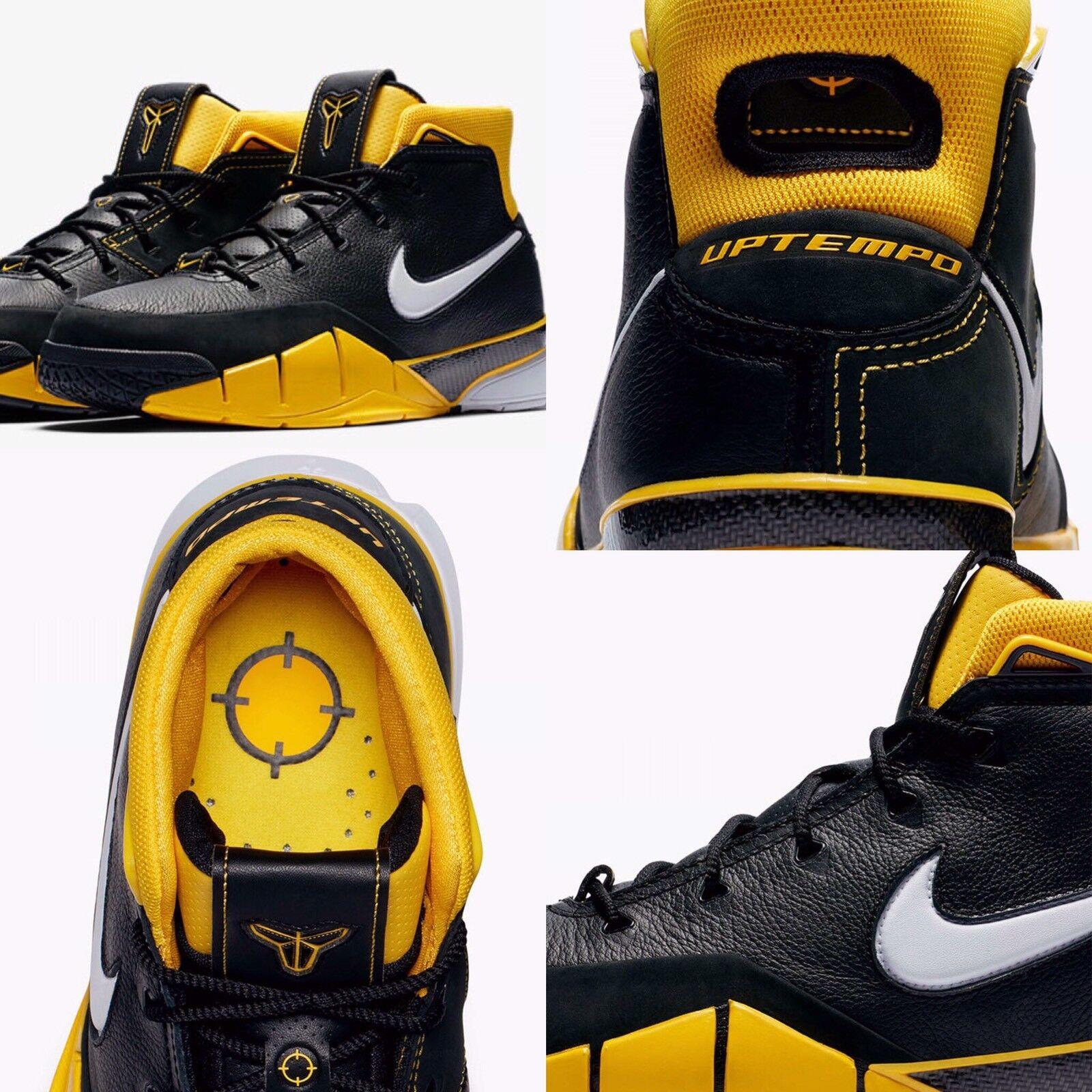 Nike Kobe 1 protro del sol aq2728-003 blanco / negro zapatos / Varsity maíz cómodos zapatos negro nuevos para hombres y mujeres, el limitado tiempo de descuento 6ed486
