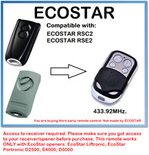 ECOSTAR RSC2, ECOSTAR RSE2 Compatible Remote Control Rolling code 433.92MHz.