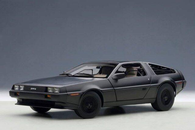 Delorean Dmc 12 1981 negro Opaco Autoart 1 18 AA79912