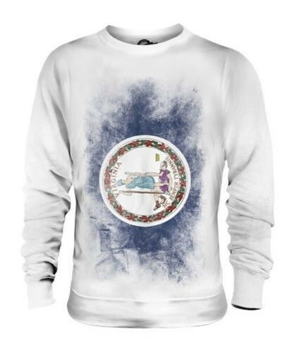 VIRGINIA STATE FADED FLAG UNISEX SWEATER TOP VIRGINIAN SHIRT JERSEY GIFT