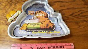 Pleasant Vintage Wilton Garfield Birthday Cake Pan Cat Metal Mold Tin Personalised Birthday Cards Veneteletsinfo