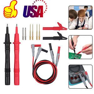 For-Fluke-Meter-Power-Multimeter-Probe-Alligator-Clips-Test-Lead-Kit-12-in-1-SET