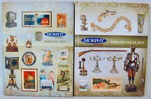 Morphy Auctions 2 Catalogs Shaving Mugs Safes Telephones Art Pottery 2012 2013 Ebay
