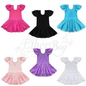 USA Girl Kid Tutu Ballet Leotard Unitard Dance Dress Ballerina Dancewear Costume