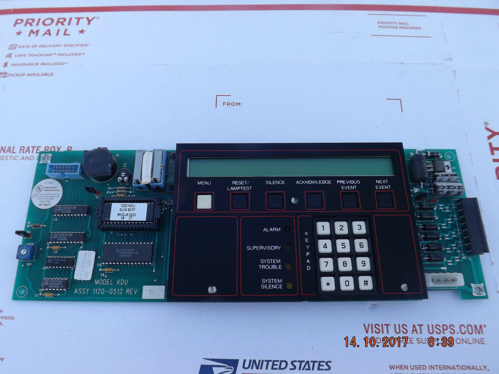 FCI Gamewell Kdu-l Keyboard Display Unit for 7200 Series Fire Alarm  1120-0569 | eBay