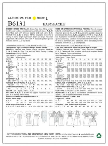 Free UK P/&P Butterick Ladies Easy Sewing Pattern 6131 Strapless Dresses...