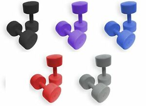 Vinyl-Hand-Weight-Dumbbells-Set-Pair-Home-Fitness-Exercise-Ladies-by-BodyRip