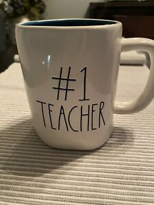 Rae-Dunn-Mug-Teal-Inside-Large-Letter-1-TEACHER-Ceramic-IVORY-TEAL