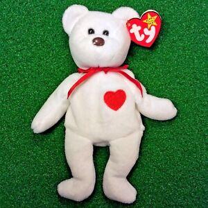 9b180a21da0 1993 Rare Valentino Bear Ty Beanie Baby PVC 3rd Gen Tush Sticker ...