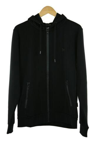 Top Xl Hooded Rrp80êdf188 Black Size Menswear Gym Zip Collection Intense wq8ICP