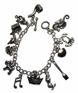 Charm BRACELET 13 Charms DISNEY/'S LITTLE MERMAID Silvertone