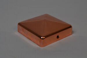 6x Kupfer Pfostenkappe für Rundpfosten Abschlusskappe Zaunkappe Zierkappe