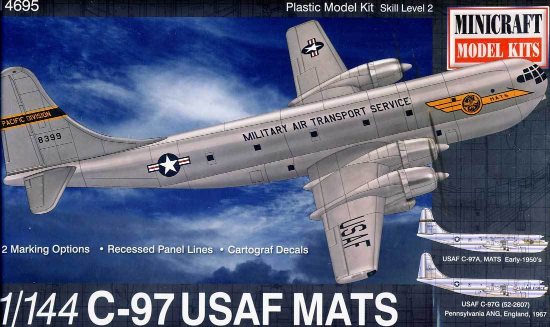 Minicraft 144 1 Kit Model 1967 C-97g 1967 C-97a Early Mats C