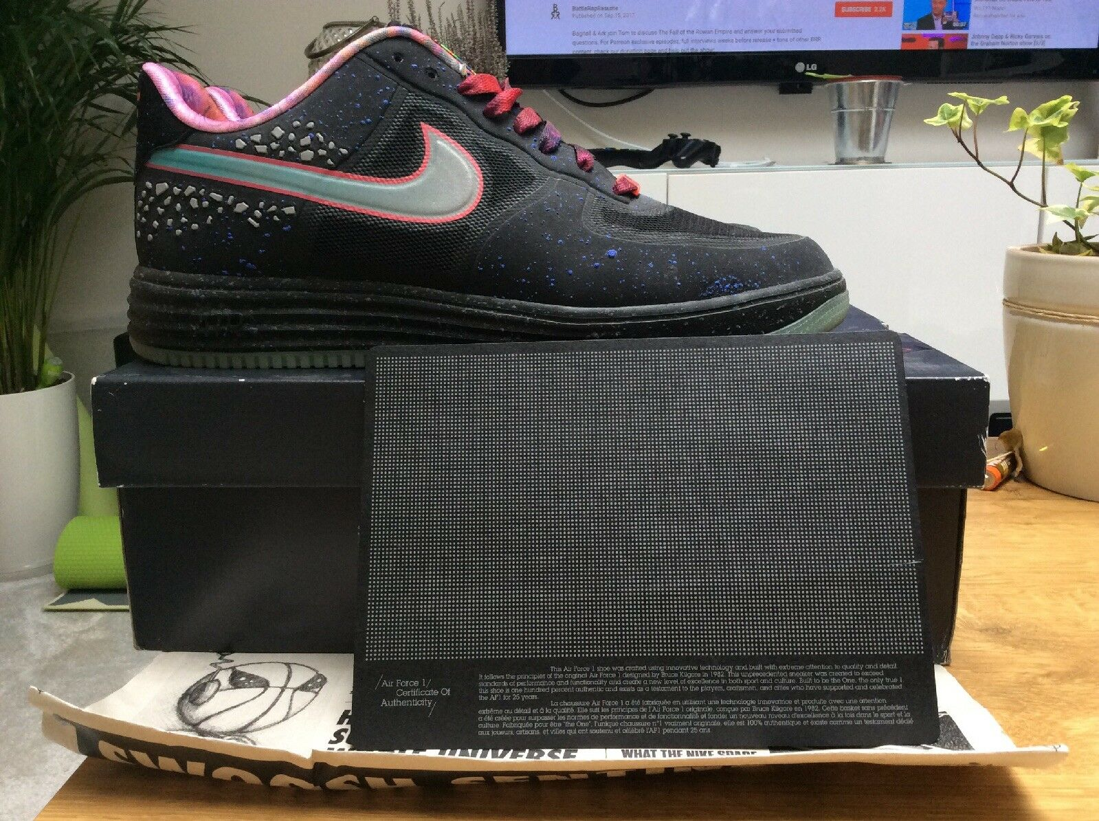 Nike Lunar Force 1 One Fuse UK 10 Brand New Very Rare